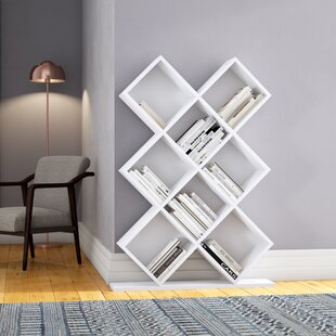 Campas Geometric Bookcase by Ivy Bronx