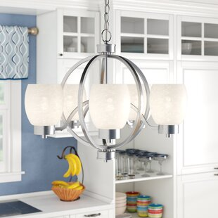 Winston Porter Schmid 5-Light Shaded Chandelier