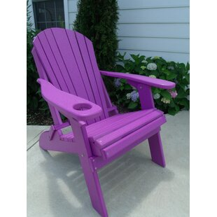 Mcguire Plastic Folding Adirondack Chair by Bayou Breeze
