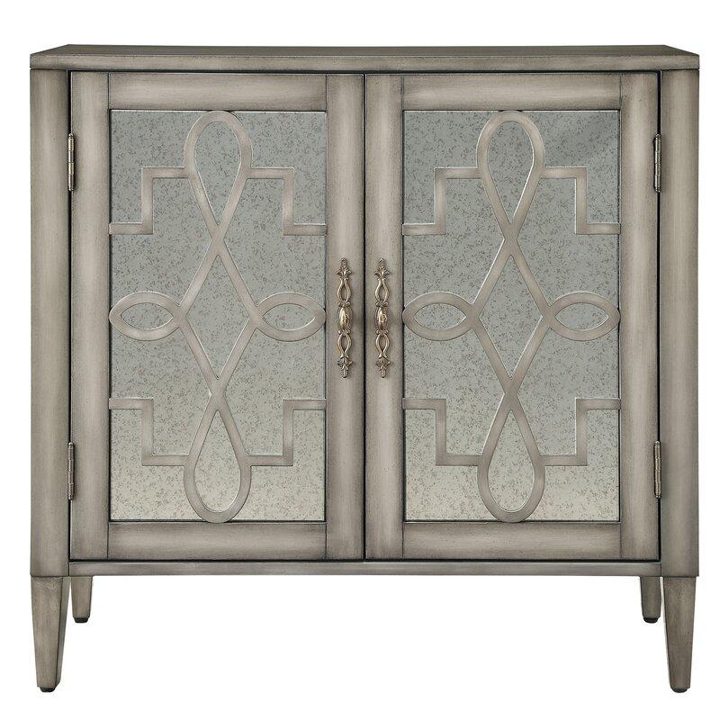 Willa Arlo Interiors Sanna 2 Door Mirrored Cabinet & Reviews   Wayfair