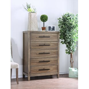 Deals Peres 5 Drawer Chest by Union Rustic