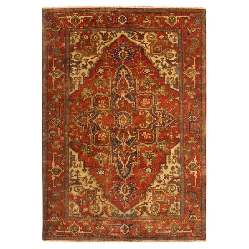 Exquisite Rugs Serapi Oriental Hand Knotted Wool Orange Beige Area Rug Reviews Wayfair