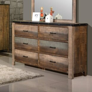 Graves Wooden 6 Drawers Double Dresser by Rosecliff Heights