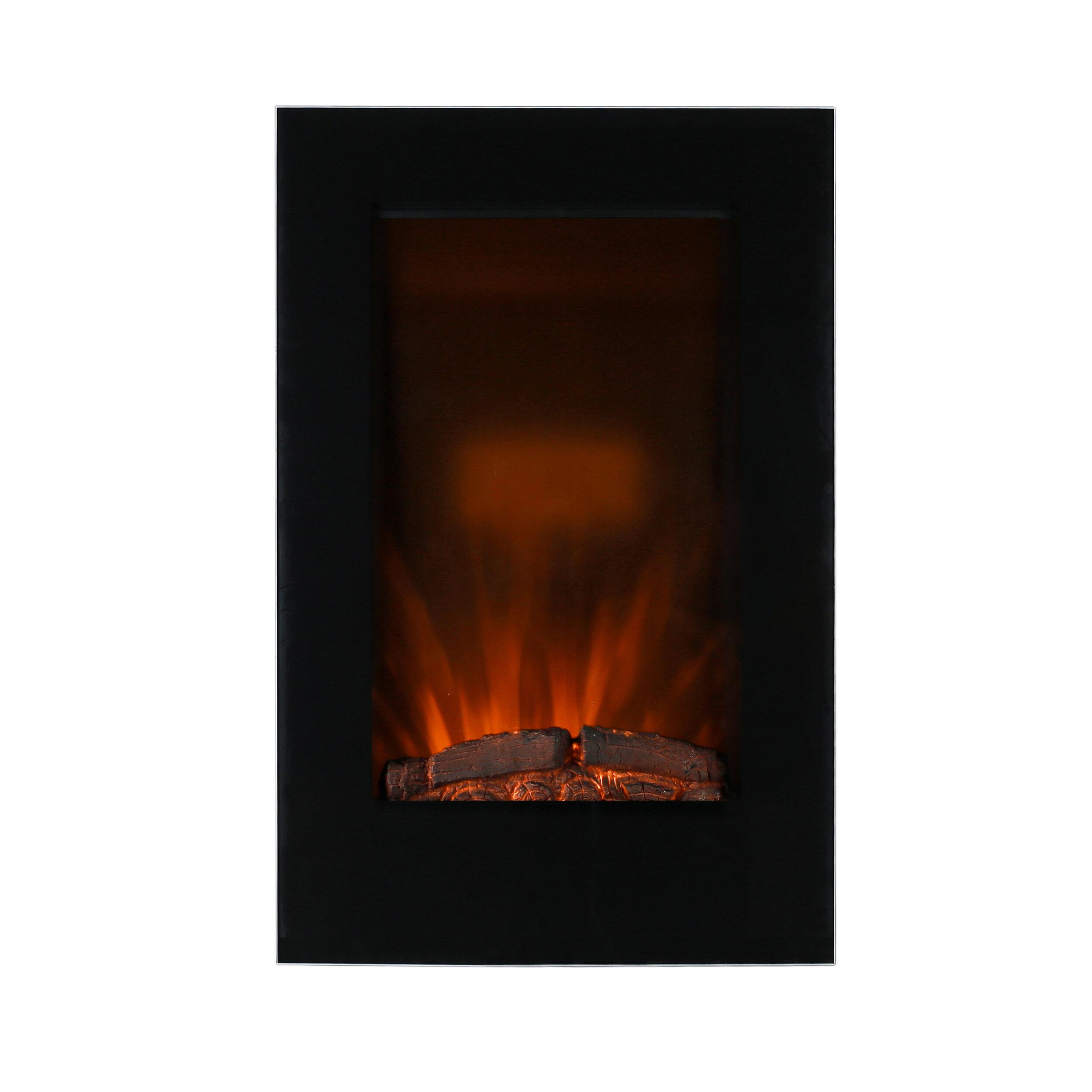 Ebern Designs Dulin Wall Mounted Electric Fireplace Wayfair