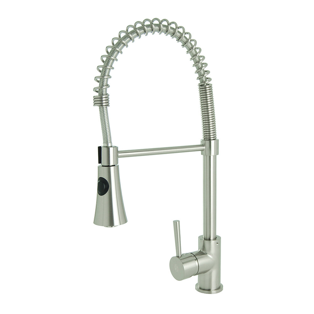 N88502b5 Spring Coil Pull Down Single Handle Kitchen Faucet