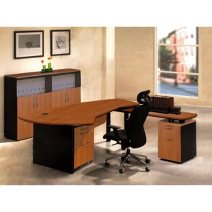 Executive Management 5 Piece L-Shaped Desk Office Suite by OfisELITE Comparison