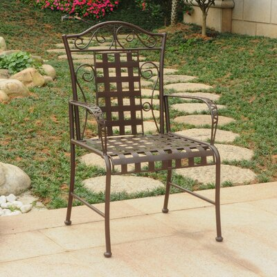 Abbottsmoor Patio Dining Chair Finish: Matte Brown by Darby Home Co
