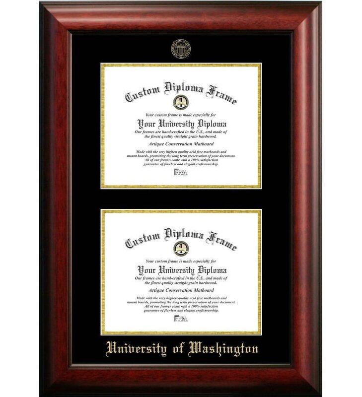 Diploma Frame Deals University of Washington Double Degree Picture ...