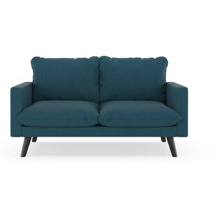 Cowans Cross Weave Loveseat by Corrigan Studio 2019 Sale