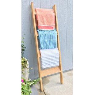 Trijaya Living Teak Indoor/Outdoor Towel Rack