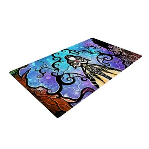 Mandie Manzano One Little Bite Purple/Yellow Area Rug