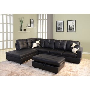 sc 1 st  Wayfair : black and grey microfiber sectional - Sectionals, Sofas & Couches