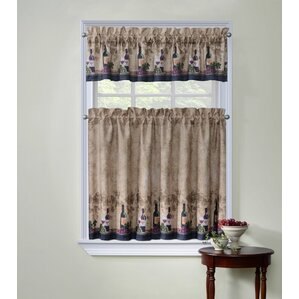 Cabernet Kitchen Curtains