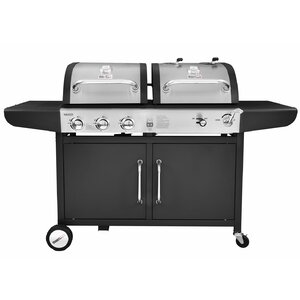 Performance 3 Burner Liquid Propane Gas and Charcoal Grill