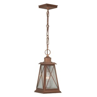 August Grove Flemings 1-Light Outdoor Hanging Lantern