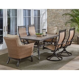Carlee 7 Piece Dining Set with Cushions