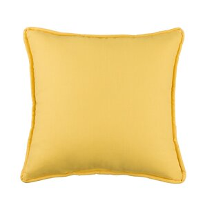 Kelford Solid Square Cotton Throw Pillow
