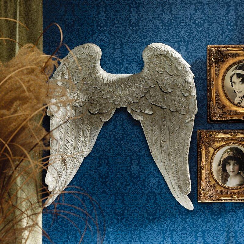 Design Toscano Heavenly Guardian Angel Wings Wall Decor Wayfair
