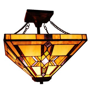 Best Reviews Hackmore 2-Light Semi Flush Mount By Astoria Grand