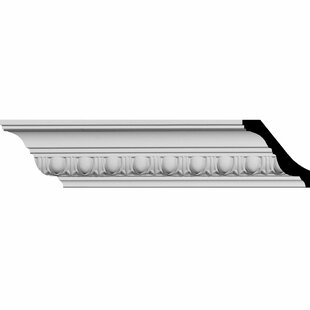 2 3/4 inch H x 94 1/2 inch W x 3 1/8 inch D Egg and Dart Crown Moulding