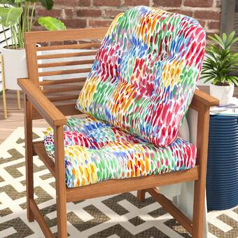 Charlton Home Crew Park Flying Wicker Indoor Outdoor Rocking Chair Cushion Wayfair
