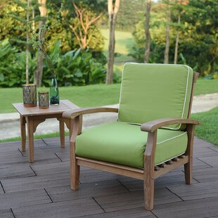 Online Purchase Monterey Teak Patio Chair with Cushions (Set of 2) Online