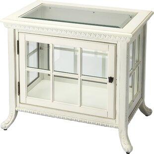 August Grove Hulme Chair Side Curio Cabinet