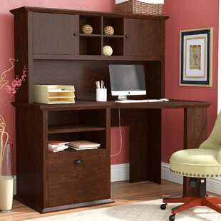Ferrell L-Shape Computer Desk with Hutch