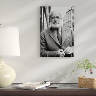 U0027Ernest Hemingway In Madridu0027 Photographic Print On Canvas