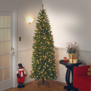 8e82b1474884 7.5' Green Fir Artificial Christmas Tree with 450 Coloured and White Lights