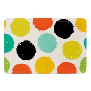Retro Dots by Daisy Beatrice Bath Mat