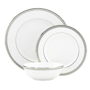 Lace Couture Bone China 3 Piece Place Setting, Service for 1