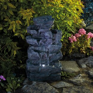Tippett Polystone Fountain With LED Light By Sol 72 Outdoor