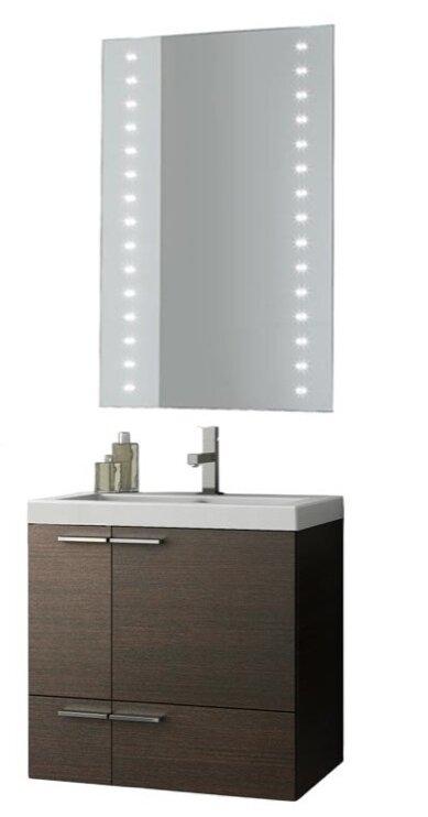Ivy Bronx Letourneau 24 Wall Mounted Single Bathroom Vanity Set With Mirror Wayfair