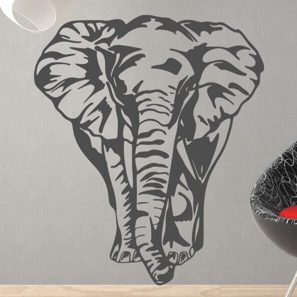 Style And Apply Big Elephant Wall Decal Wayfair