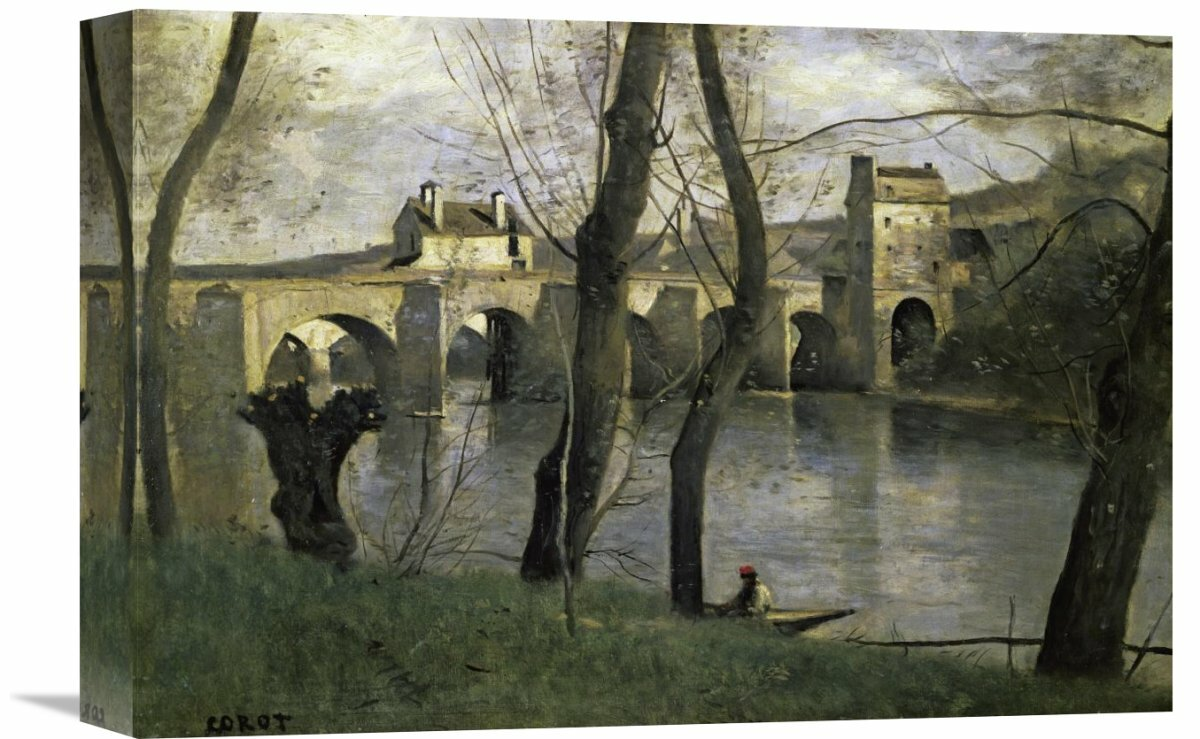 Color art nantes -  The Bridge Of Nantes By Jean Baptiste Camille Corot Painting Print On
