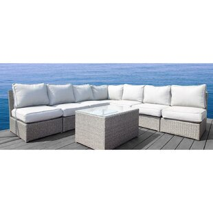 Brayden Studio Simmerman 8 Piece Sectional Set with Cushions
