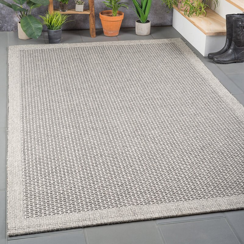 Felipe Charcoal Indoor Outdoor Area Rug