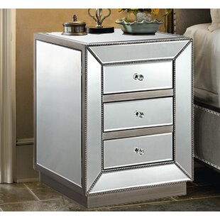 Maguire 3 Drawer Nightstand by House of Hampton