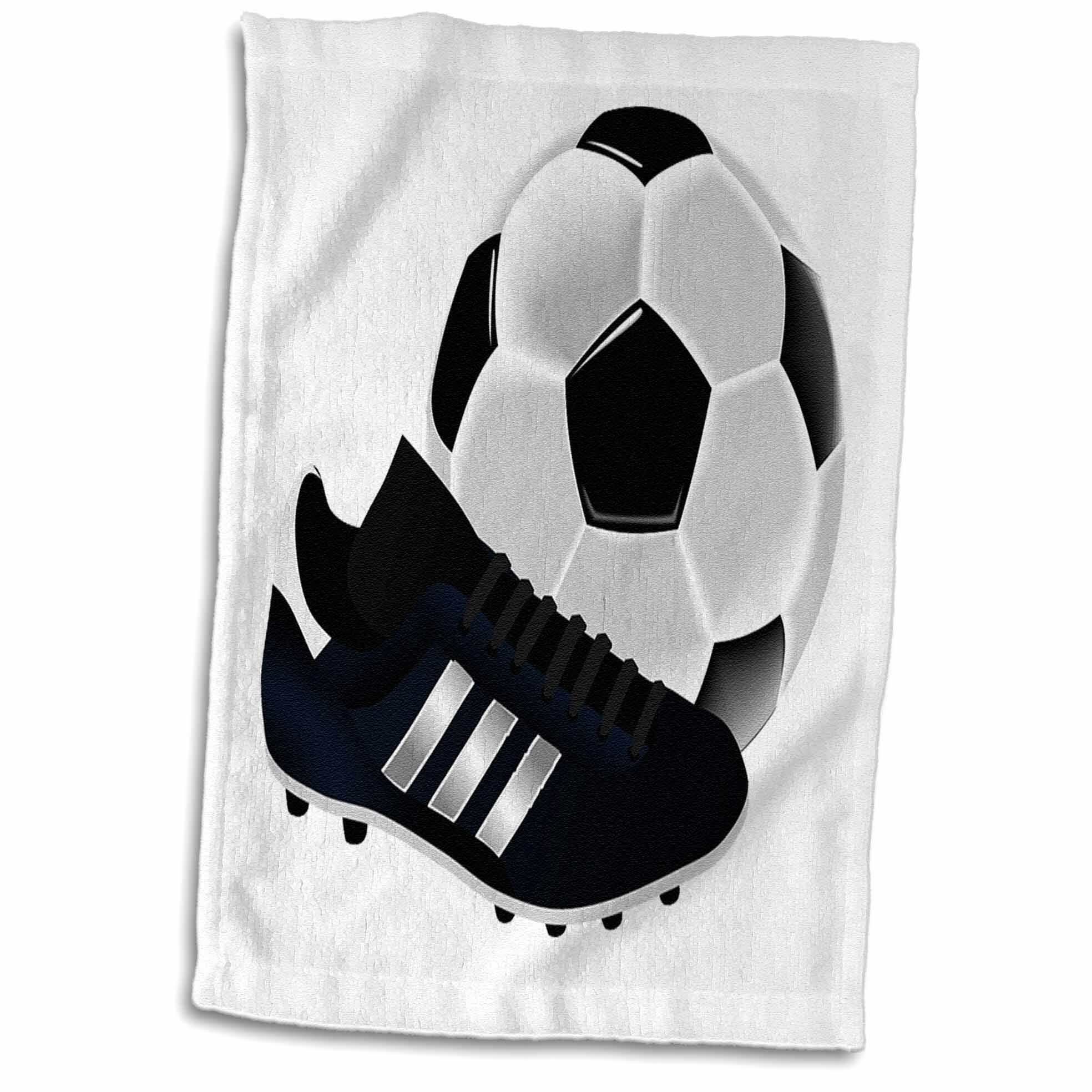 East Urban Home Jack Image Of Soccer Ball And Shoe Close Up Tea Towel Wayfair