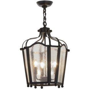 Meyda Tiffany Greenbriar Oak 4-Light Foyer Pendant