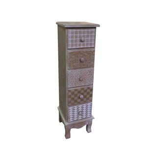 Atterberry Wooden 5 Drawer Accent Chest by Bungalow Rose