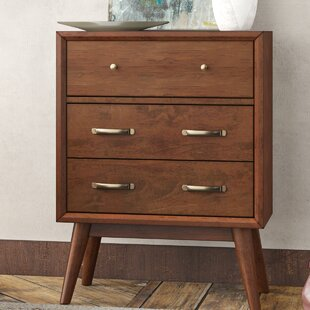 Ripton Mid-Century Modern 3 Drawer Accent Chest by George Oliver