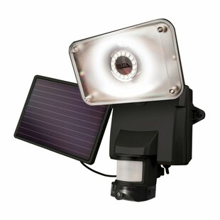 Frailey LED Solar Power Video Enabled Outdoor Security Flood Light with Motion Sensor by Latitude Run