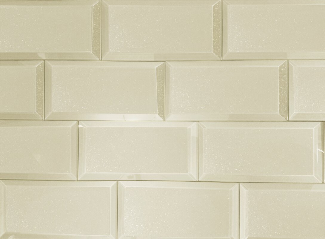 Abolos frosted elegance 3 x 6 glass subway tile in glossy creme frosted elegance 3 x 6 glass subway tile in glossy creme dailygadgetfo Gallery
