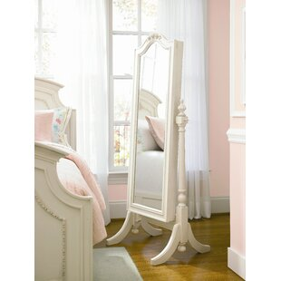Chassidy White Wood Storage Mirror