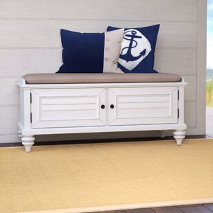 Beachcrest Home Harrison Wood Storage Bench