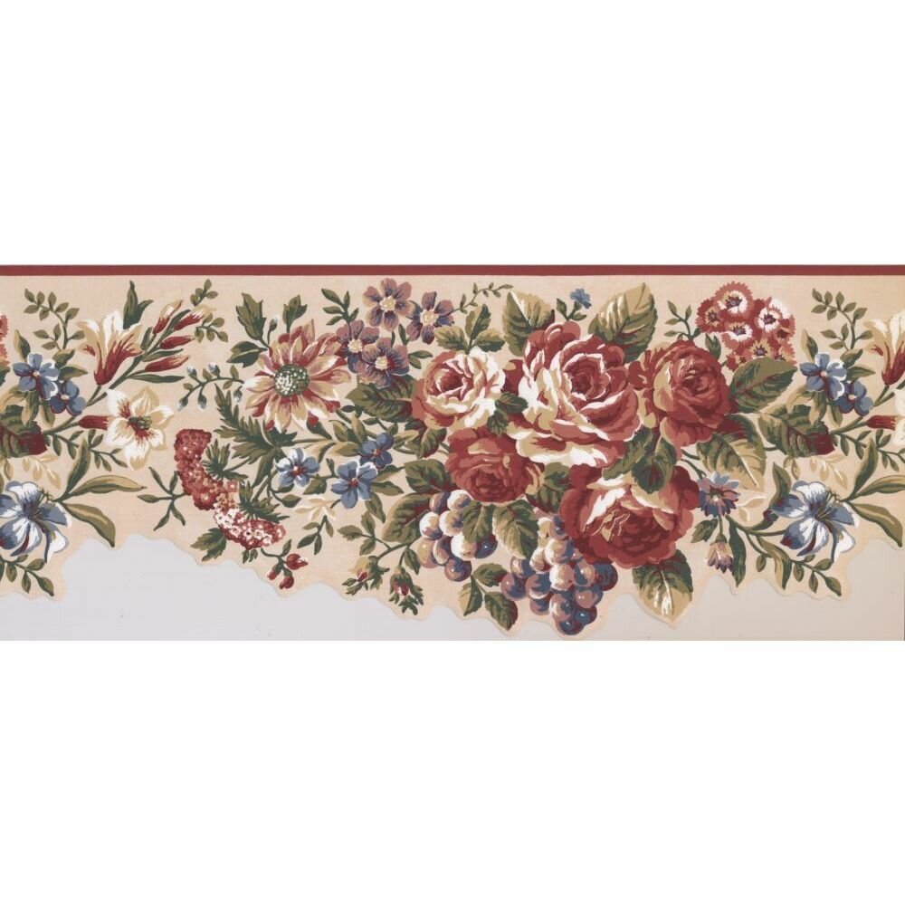 Astoria Grand Citlali Floral 15 L X 10 W Wallpaper Border Wayfair