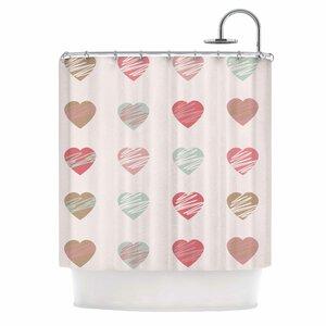 Afe Images Hearts Illustration Shower Curtain East Urban Home