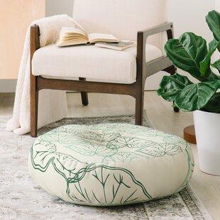 Morgan Kendall Leaves Floor Pillow